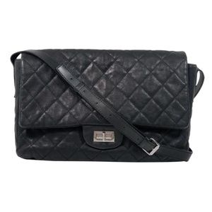 CHANEL Lambskin Leather Quilted Shoulder Maxi